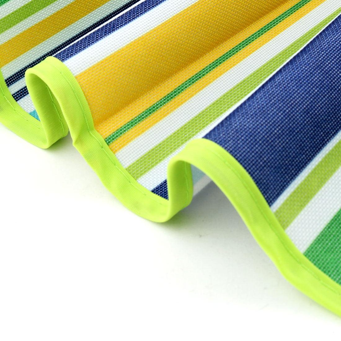 Hiking Nylon Stripe Pattern Moisture Resistant Picnic Mat Lawn Green 145 x 180cm - image 3 de 6