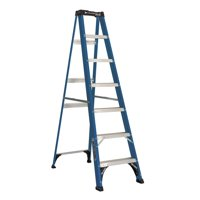 Louisville Ladder 7' Fiberglass Step Ladder, 225-lb Capacity, W-3217-07