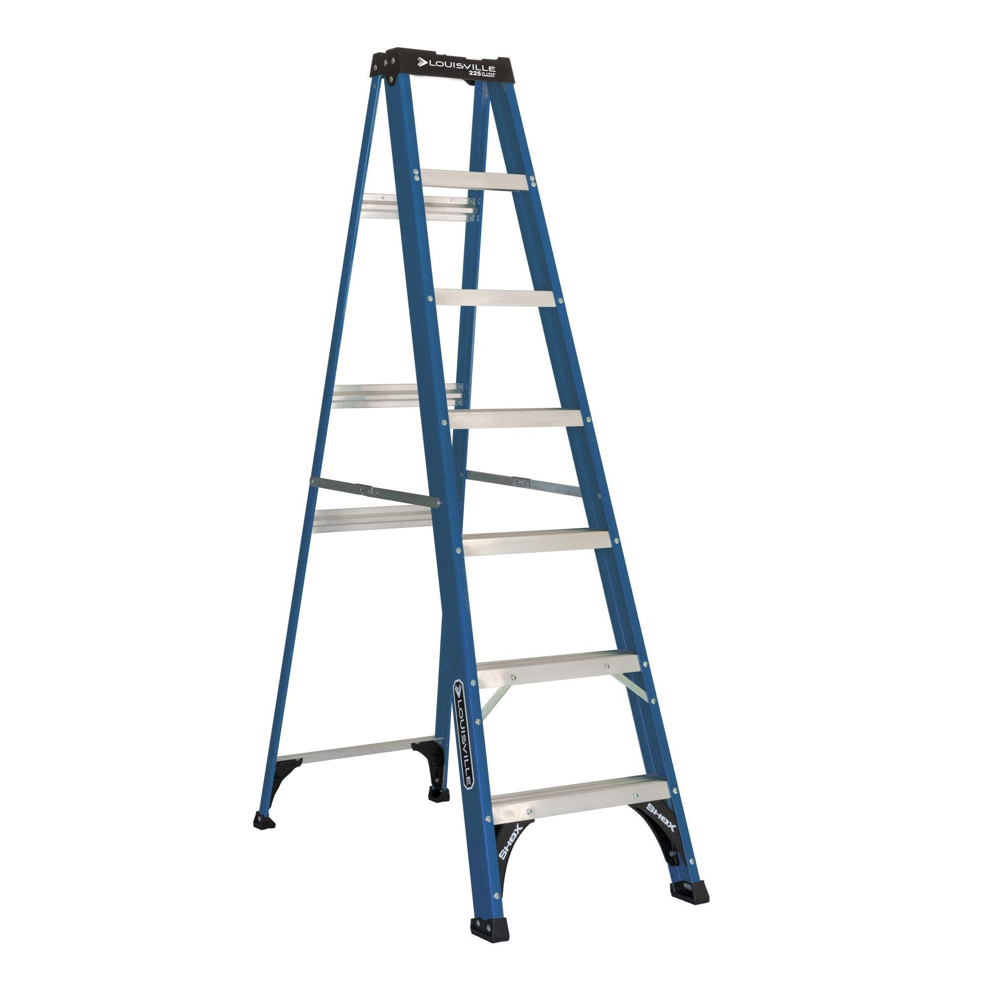 Louisville Ladder 7 Fiberglass Step Ladder 225 Lb Capacity W 3217 07 Walmart Com Walmart Com