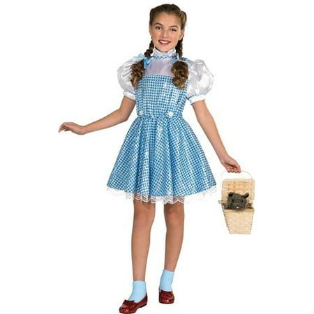 Dorothy Of Oz Halloween Costume (Girl's Sequin Dorothy Toddler Halloween Costume - Wizard of)