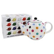 Now Designs - London Pottery Globe Teapot White with Multicolored Spots - 6 Cup(s)