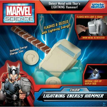 Uncle Milton - Marvel Science -Thor Lightning Energy Hammer (Thor Kids Hammer)