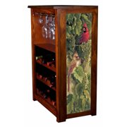 """""""Vineyard Cardinals"""" by Rosemary Millette Wine Cabinet"""