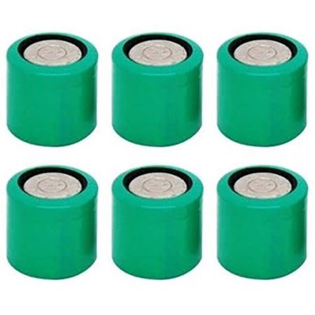 6 pcs CR13N Bulk 3V Lithium Battery Compatible with CR1/3N DL1/3N 1/3N K58L 2LR76 CR11108 72L76 KL1/3 ()