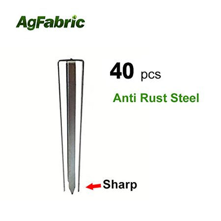 Agfabric sturdy Landscape Unique Design Garden Landscape Staples Stakes Pins for Weed Barrier