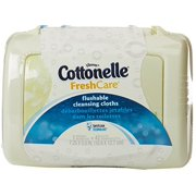 Cottonelle  Fresh Care Flushable Cleansing Cloths Tub, 42 Count