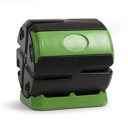 Hot Frog 37 Gal. Recycled Plastic Compost Tumbler - Black & Green