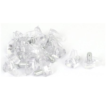 Household Cupboard Cabinet Drawer Hardware Shelf Support Pin Clear 20pcs (Drawer Support)