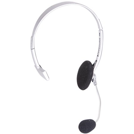 Pop Singer Telemarketer Pit Crew Silver Microphone Headset Costume Accessory