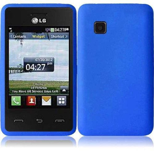 Silicone Skin Case for LG 840G - Blue