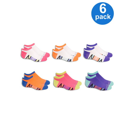 Girls' Everyday Active Lightweight Flat Knit No Show Socks with Arch Support, 6 Pairs Knitting Baby Socks