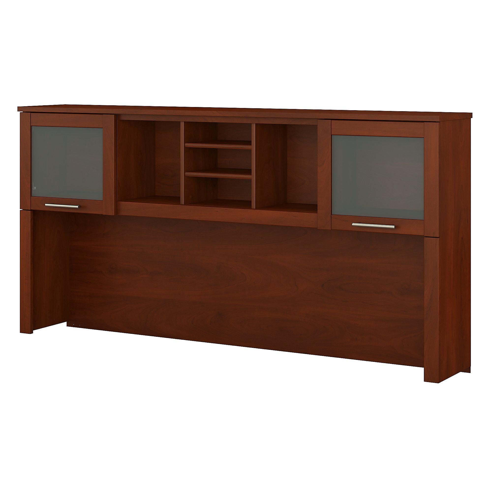 Bush Furniture Somerset 72w Hutch For L Shaped Desk In Maple Cross Com