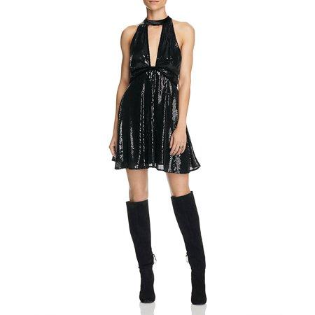 Free People  98 New 13062 Film Noir Sequin Mini Womens Dress 4