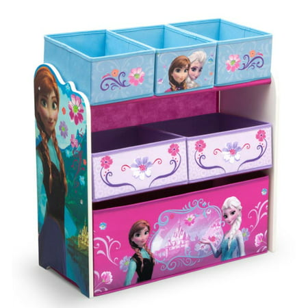 Disney Frozen Multi-Bin Toy Organizer by Delta Children - Frozen Toys Walmart