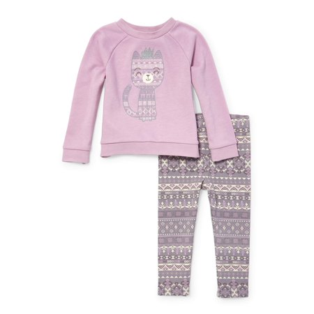 Pullover Sweatshirt & Printed Leggings, 2-Piece Outfit Set (Toddler - The Undertaker Outfit