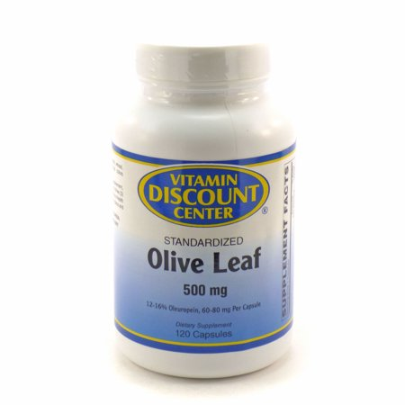 Discount Heart - Olive Leaf 500mg by Vitamin Discount Center - 120 Capsules