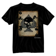 Death Spade Playing Card T-Shirt by Designs - Small