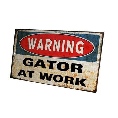 KuzmarK Yard Lawn Fence Sign - Warning Florida Gator At - Florida Gators Sign