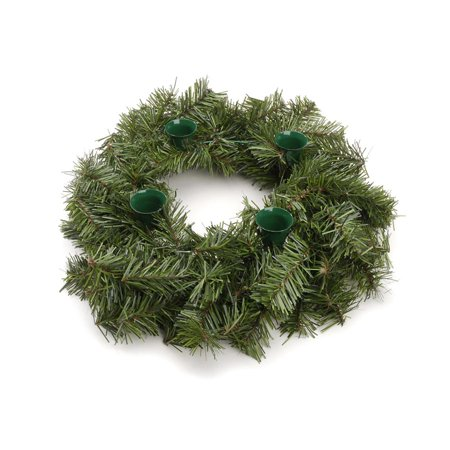 Darice 12 inch Advent Wreath with 100 Tips and Green Candle Cups