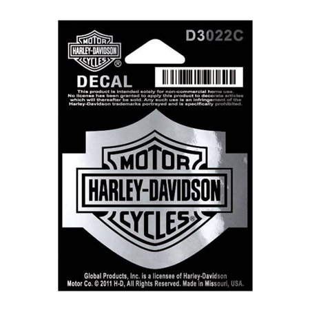 Harley-Davidson Bar & Shield Logo Chrome Decal, SM 2.25 x 1.75 inches D3022C, Harley