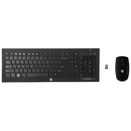 f048636d825 HP 2.4 GHz Wireless Keyboard and Mouse (Certified Refurbished) - Walmart.com