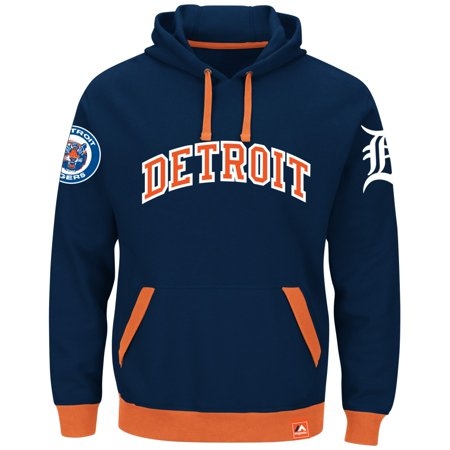 """Detroit Tigers Majestic MLB """"Forever"""" Cooperstown Hooded Sweatshirt by"""