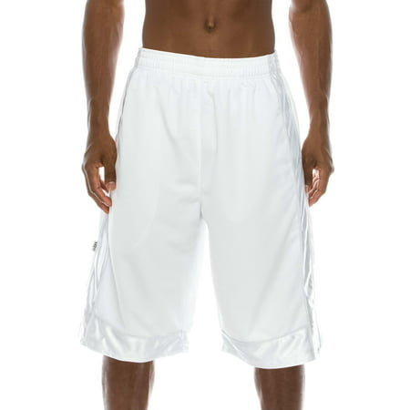 Pro 5 Super Heavy Weight Basket Ball Mesh Shorts,White,Small