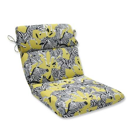 40 5  Zealous Zebras On Yellow Rounded Corners Chair Cushion