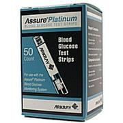 Assure Platinum Blood Glucose Test Strips  50 Test Strips per Box