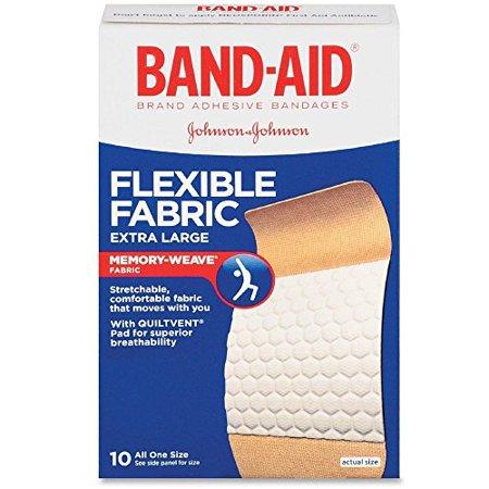 BAND-AID Flexible Fabric Bandages, Extra Large 10 ea