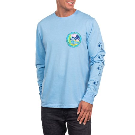 Snoopy Men's Long Sleeve Surf Club Graphic Tee, Up to size 2XL - 2017 Pop Culture Halloween