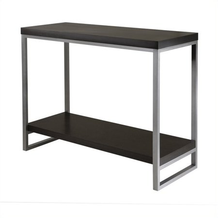 Pemberly Row Console Table Enamel Steel Tube in Dark Espresso (Console Tube)