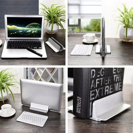 Newset Vertical Adjustable Laptop Base Stand Aluminum Alloy Notebook Desktop Holder Portable