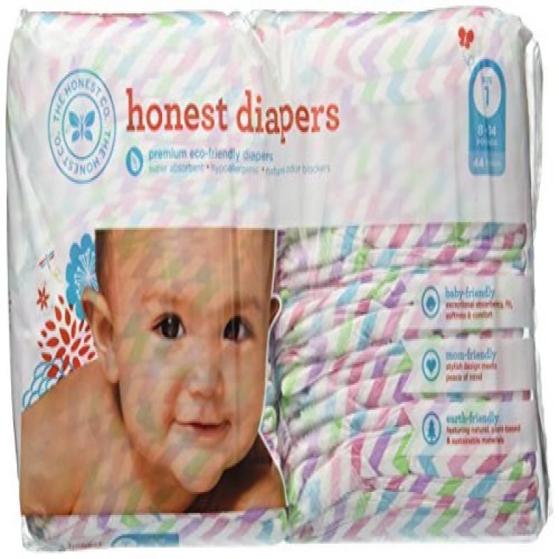 The Honest Company Diapers 44 Size 1 - Chevron