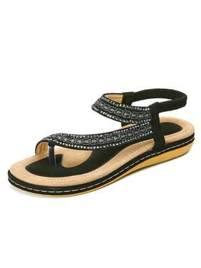 db279bd1536780 Product Image Women s Soft Flat Heel Sandals Summer Beach Flip Flops Shoes.  Meigar
