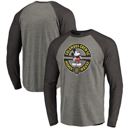 ff86d0b527 Columbus Crew SC Fanatics Branded Disney Mickey s True Original Seal Long  Sleeve Tri-Blend Raglan T-Shirt - Heather Gray - Walmart.com