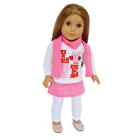 My Brittany's Valentines Owl Outfit for American Girl Dolls, My Life as Dolls,Our Generation Dolls- 18 Inch Doll Clothes- Clothes Only](Valentine Owl)