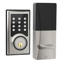 TURBOLOCK TL-201 Electronic Keypad Deadbolt Keyless Entry Door Lock w/Code Disguise, 21 Programmable Codes, 1-Touch Locking + 3 Backup Keys