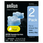 Braun Clean & Renew Refill Cartridges CCR, Lemon Fresh, 2 Pack