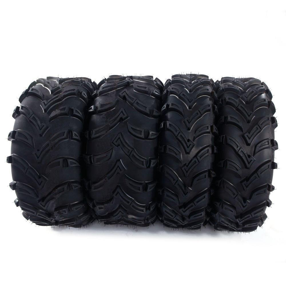 Ktaxon 4 of 26-9-12 26-11-12 480LBS LRC Front Rear Left and Right ATV Black Tires