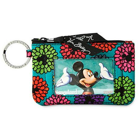 b60f0e5c5a7 Disney - Disney Mickey s Magical Blooms Zip ID Case by Vera Bradley ...