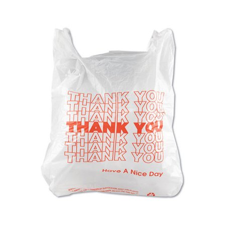 Inteplast Group T Shirt Thank You Bag In White 900 Case