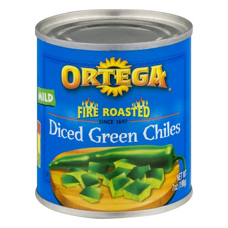 ((6 Pack) Ortega Fire Roasted Diced Green Chiles Mild, 7 Oz)