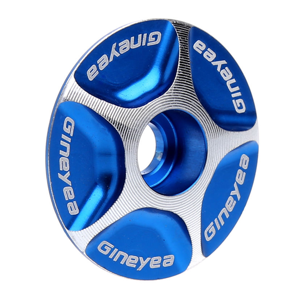 Aluminum Bicycle MTB Road Mountain Bike Stem Accessories Headset Top Cap Cover Color:Blue