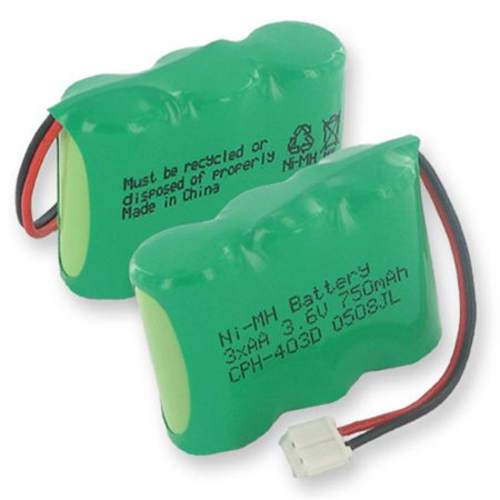 Empire CPH-403D Batterie 3.6V 3 x 2 po et 3AA - hydrure m-tallique de nickel, connecteur 750 mAh et D - 2,7 Watt - image 1 de 1
