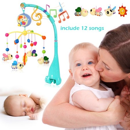 12 Songs High end Musical Crib Mobile Baby Toys 0 12 Months Bed Bell M