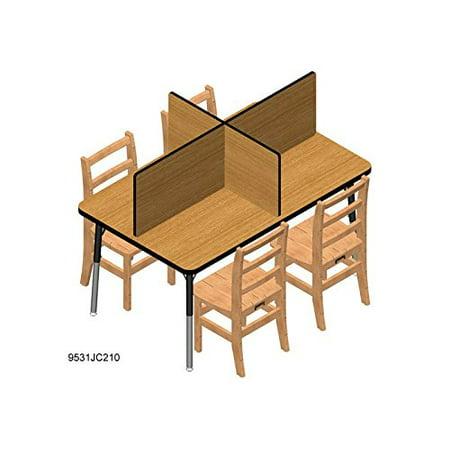 "Ridgeline� Study Carrel - 6 Carrels - 30"" X 72"" - Oak"