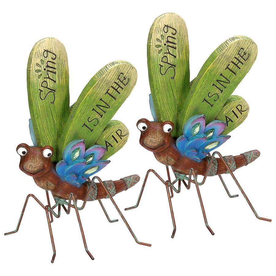 Design Toscano Spring is in the Air Dragonfly Statue: Set of Two