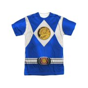 Power Rangers - Blue Ranger Emblem (Front/Back Print) - Short Sleeve Shirt - XX-Large
