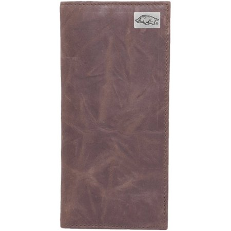 Arkansas Razorbacks Leather Secretary Wallet with Concho - Brown - No Size (Arkansas Razorbacks Leather)